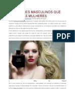 5 Perfumes Masculinos Que Atraem as Mulheres