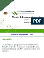 modelos de programacion lineal