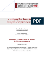 Sociologia Chilena Durante La Dictadura