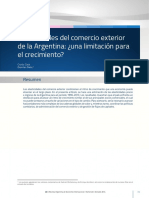 Elasticidades Del Comercio Exterior en Argentina. Una Limitación Para El Crecimiento