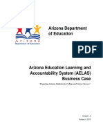 Arizona Education Learning and Accountability System (AELAS) Business Case