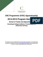 CNC Programmer Apprenticeship Program Handbook 2014-2015