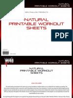 MI40-X - Workout Sheets - 1. 'Natural' (Beginner)