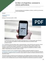 Lanacion.com.Ar-Inminente Llegada de Uber a La Argentina Comenzó La Selección de Conductores Particulares