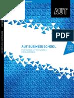AUT - 2016 Postgraduate Business Research