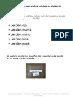 Set de Tarjetas Para Hacer Análisis y Síntesis en El Pizarrón[1]