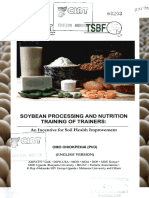 68203 Soybean Processing and Nutrition Training of Trainers an Incentive for Soil Health