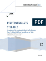 Performing Arts Syllabus 2012