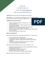 resume 2012 education