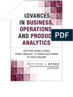 Advances in Business, Operations and Product Analytics