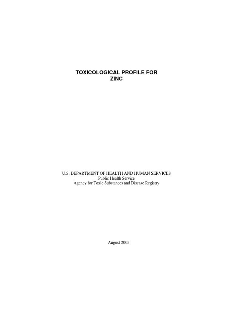TOXICOLOGICAL PROFILE FOR ZINC.pdf   Zinc   Superfund