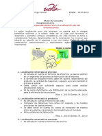 Consulta Factores Preponderantes en La Localización de Las Instalaciones