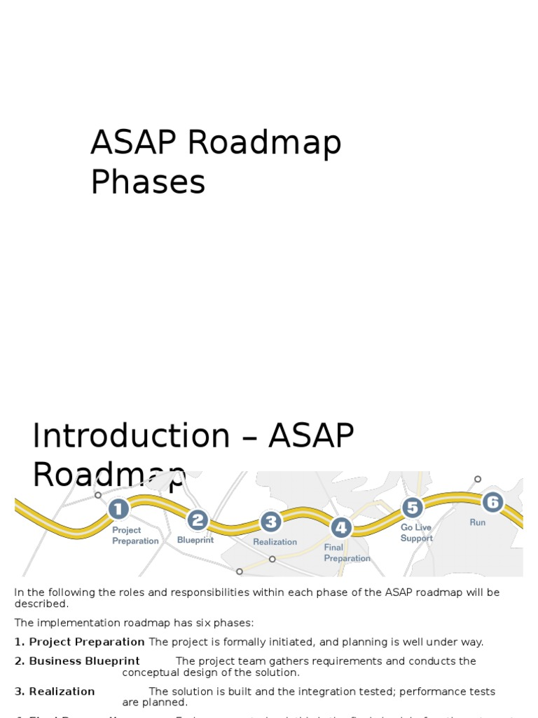 Asap roadmap phases v10 business process quality assurance malvernweather Gallery