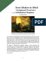 Be Not Soon Shaken in Mind - Proof of a PreTribulation Rapture
