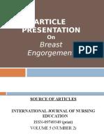 journal club presentation on breast engorgement