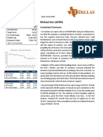 kors equity research report final