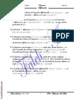 Cours Math - Equations Différencielles - Bac Tech (2007-2008) Mr Abdessatar Faleh