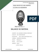 Inf. Practica 3 - Balance de Materia