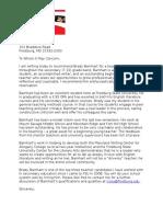 brady barnhart letter