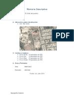 Mermoria Descriptiva - Levantamiento Por Interseccion de Visuales