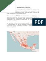 Carreteras en México y Vías Ferreas