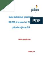 Modificacion Norma UNE 60670 Gas Natural