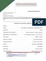 III.- Especificaciones Técnicas y Cotización