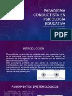 Paradigma Conductista en Psicología Educativa