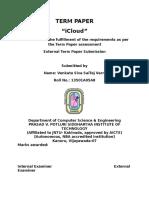 Icloud seminar report