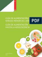 Guia Alimentacion Menores 2 Años - Adolescencia