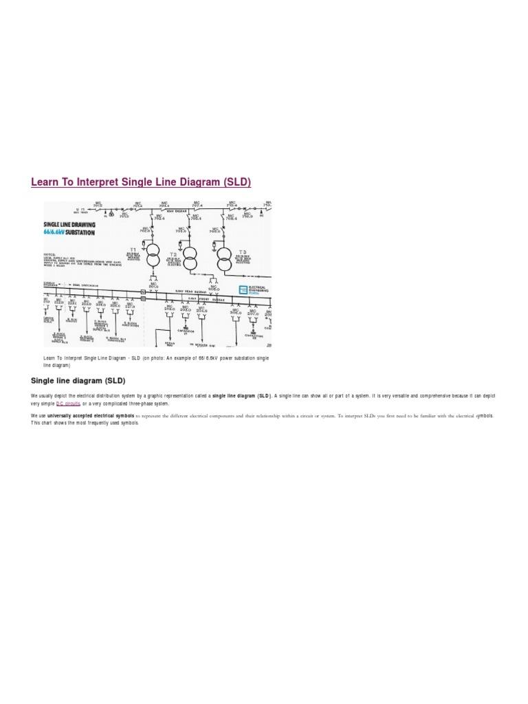Learn To Interpret Single Line Diagram Sld Switch Transformer