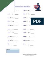 Ejercicios de Multiplicacion