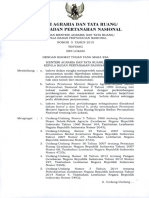 Permen Agraria Tata Ruang/Kepala BPN No.5 Tahun 2015 Ttg Ijin Lokasi