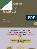 Penyusunan Kurikulum Institusi