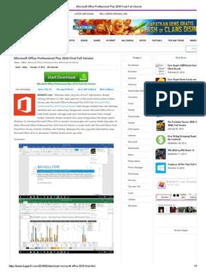 Microsoft Office Professional Plus 2016 Final Full Version