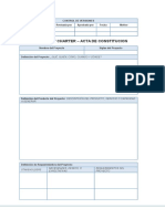 Formato Acta de Constitución (Project Charter)