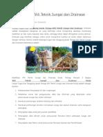 Uraian Tugas Ahli Teknik Sungai Dan Drainase