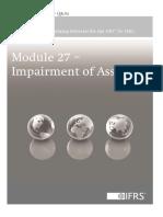 Module 27- Impairment of Assets