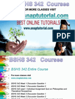 BSHS 342 Academic Success /Snaptutorial