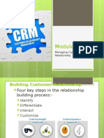 Building Customer Relationship
