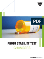 Photo Stability Test Chamber