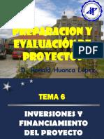 Inversiones y Financiamiento del Proyecto