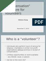 Volunteer Compensation