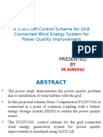 A STATCOM-Control Scheme for Grid Connected Wind Energy System for Power Quality Improvement