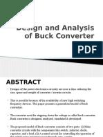 Design and Analysis of Buck Converter