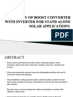 Study of Boost Converter With Inverter for Stand Alone Solar Applications