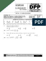 Resonnace Physics Dpp