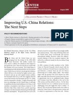 8 2009 Improving US China Relations