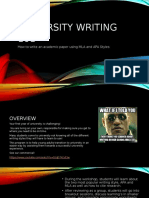 university writing 101