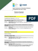 EISA PEC16 Preliminary Programme